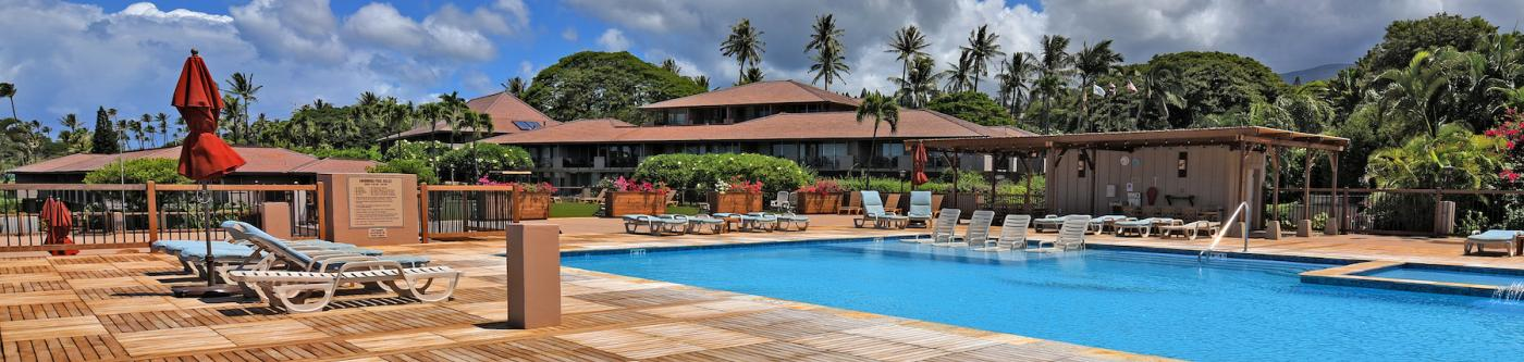 Maui Eldorado Main  Whale Pool with new wooden deck